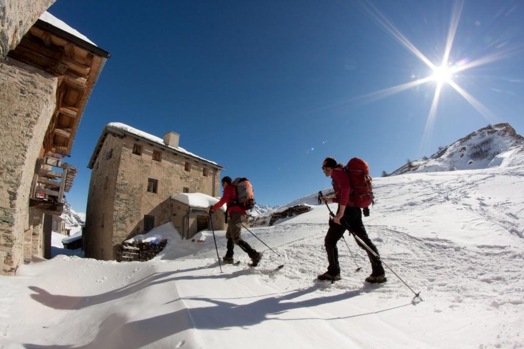 Wander Schneeschuhwandern Bergell Engadin Schweiz