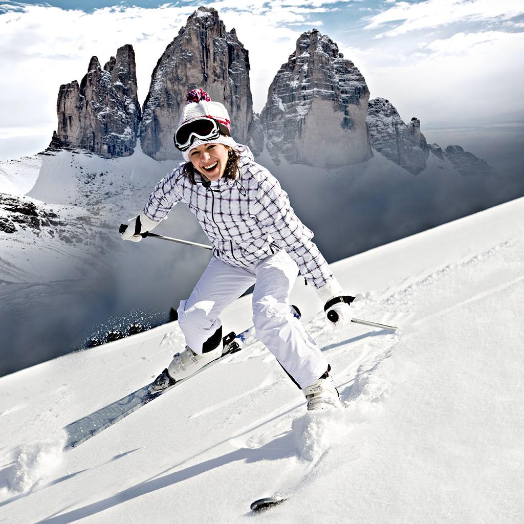 Sicherheit und Skifahren Eltern Kinder